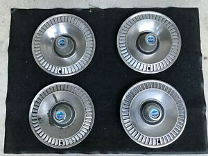 Set Of Four 1964 Ford Galaxie 14 Oem Wheel Covers Hubcaps