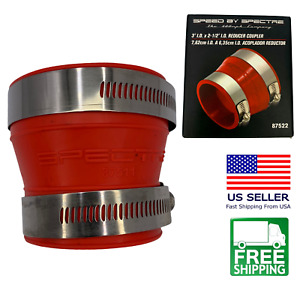 Spectre 87522 Cold Air Intake Adapter 2 5 x3 Reducer Coupler Fitting W Clamps