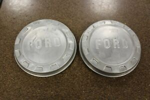 Vintage Ford Center Hub Caps Free Shipping Pair