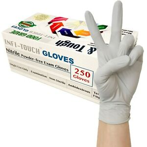 Grey Nitrile Gloves Food Safe Latex And Powder Free 9 5 Length S M L Xl