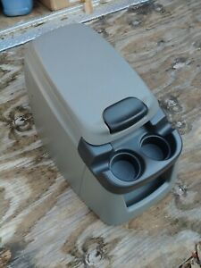 99 07 Ford F250 F350 Grey Gray Center Console Drink Cup Holder Storage