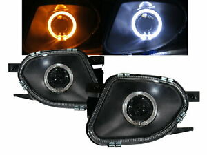 E Class W211 03 06 Sedan Guide Led Angel Eye Fog Light Bk V2 For Mercedes Benz