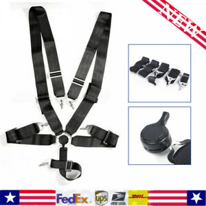 3 Strap 5 Point Quick Release Camlock Racing Harness Seat Belt Universal