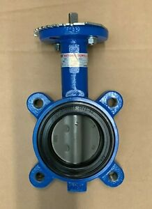 3 Lug Butterfly Valve 316ss Disc Buna Seat 200 Psi W Handle new