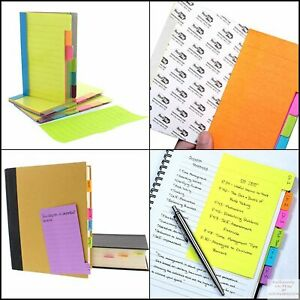 Redi tag 60 Ruled Notes Divider Sticky Notes Tabbed Self stick Lined Note Pad
