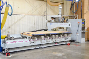 Weeke Bp 140 Cnc Machining Center With Auxiliary Routing Spindle Flat Table