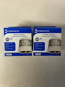 Intermatic Lc4521c Photo cell Photo control T Locking Type 120v 1000w 2 Pack