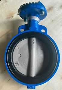 8 Wafer Butterfly Valve Ductile Iron Disc Buna Seat 200 Psi W Handle new