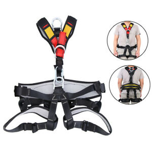 Fall Protection Safety Climbing Harness Body Rock Tree Rappelling Harness 45mm