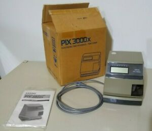 Amano Pix 3000x a030 Digital Electric Time Stamp Recorder Clock Punch In Out