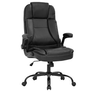 Office Chair Ergonomic Desk Chair Pu Leather Computer Chair With Lumbar Support