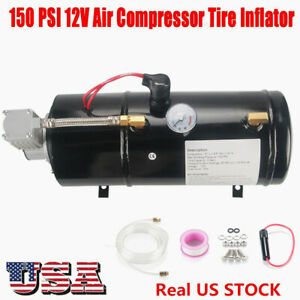 Heavy Duty 12v Dc Truck Pickup On Board Air Compressor With 3 0 Liter Tank