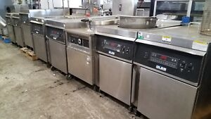 Giles Gef 720 70lbs Round Kettle Fryer With Basket Lift And Filter System