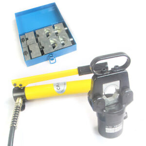 Hydraulic Wire Terminal Crimper Crimping Tool Pliers Cutter W Dies pump 20 Ton