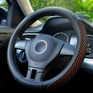 Car Steering Wheel Cover Warm In Winter And Cool In Summer Universal 15 Inches