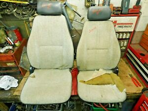 Suzuki Samurai Left Right Front Seats W Mounting Brackets Original