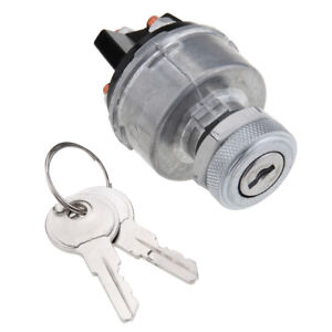 Samger Universal Ignition Key Starter Switch With 2 Keys For Car Tractor Trailer