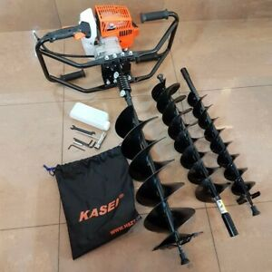 Kasei Gas Earth Auger 3hp 63cc Heavy Duty Post Hole Digger With Bit