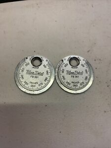 2 Pc Blue Point Spark Plug Gap Gauge Fb361