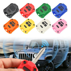 Abs Car Key Fob Shell Case Cover For Jeep Wrangler Jk 2007 2017 Red Blue Black