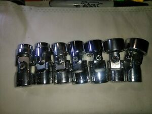 Craftsman Usa V 3 8 Drive 7 Pc Universal Swivel 6pt Socket Set 3 8 3 4