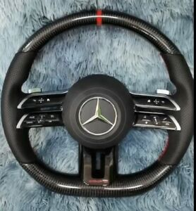 Custom Built 2021 Mercedes Benz Amg Steering Wheel Carbon Fiber Oem Custom