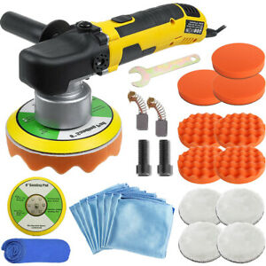 6 Dual Action Orbital Car Polisher Buffer Sander Da Polishing Machine Wax Kit