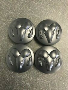 1lb72rxfab Brand New Oem Dodge Ram 1500 Center Caps 4 pack Rxf Matte Black