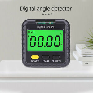 Magnetic Digital Inclinometer Angle Finder Protractor Meter Tool W spirit Bubble