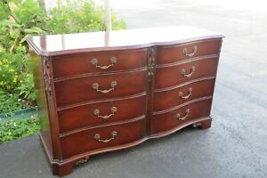 Mahogany Serpentine Front Dresser By White Furniture 1665