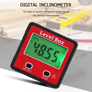 4x90 Level Box Gauge Digital Lcd Protractor Magnetic Inclinometer Angle Finder