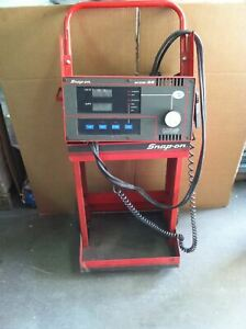 Snap On Mt3750 Avr With Carbon Pile Battery Tester With Cart Working