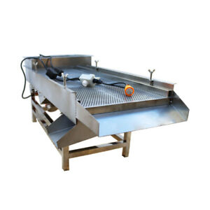 Top grate 220v Full Stainless Steel Linear Vibrating Screen Widely Use Us Stock