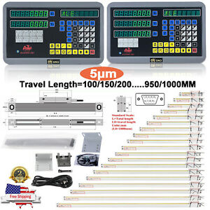 2axis 3axis Digital Readout Dro Display Linear Scale Encoder For Mill Lathe Us