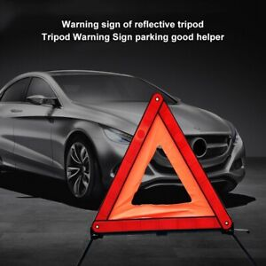 Car Emergency Breakdown Warning Triangle Red Reflective Safety Stop Sign Tool