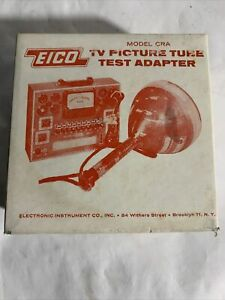 Vintage Eico Model Cra Tv Picture Tube Test Adapter With Instruction Manual