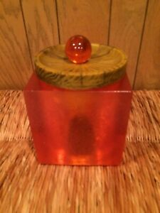 Colorflo Resin Lucite Ice Bucket Mid Century Barware Collectible