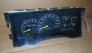 1996 1998 Chevy Gmc 1500 Pickup Dash Gauge Cluster Speedometer Oem 4 3l At 217k