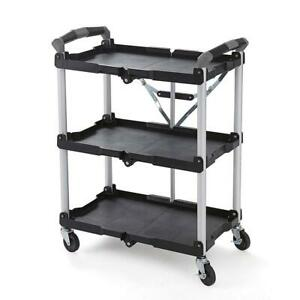Light Weight Collapsible Rolling Service Cart