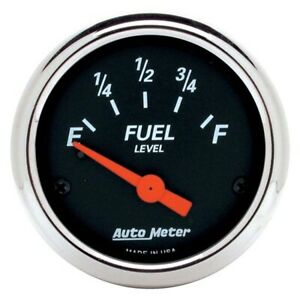 Autometer 1425 Designer Black Air core Fuel Level Gauge 2 1 16