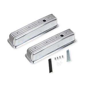 Mr Gasket 6856g Aluminum Finned Center Bolt Valve Covers Sbc