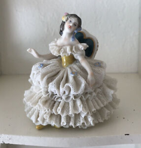 Dresden Lace German Lady Figurine