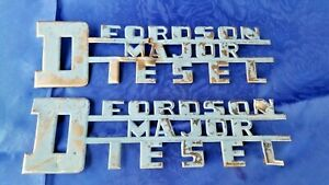 Fordson Major Diesel Tractor Side Hood Emblems 1950 s