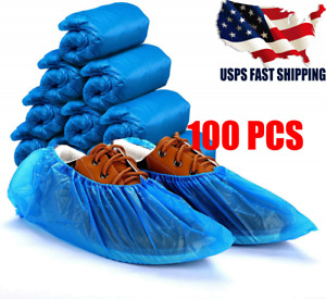 100pcs Anti Slip Disposable Boot Shoe Covers Protective Waterproof Overshoes Us