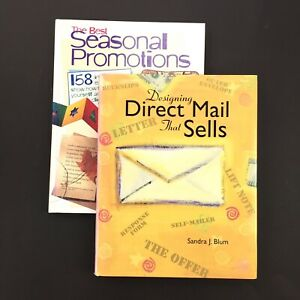Lot Of 2 Graphic Design Art Books Direct Mail That Sells Seasonal Promotions