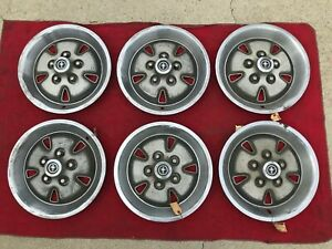 1970 1971 1972 1973 Ford Mustang Mach 1 Hubcaps Wheel Covers Set Of 6 Original