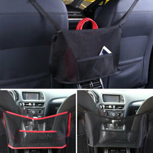 Advanced Car Mesh Net Pocket Handbag Holder Organizer Auto Seat Cargo Storage Us