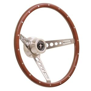 Gt Performance 35 5457 Gt3 Retro Wood Mustang Style Steering Wheel