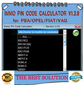 Immo Pin Code Calculator V1 3 9 Best Solution For Psa Opel Fiat Vag Immo Off