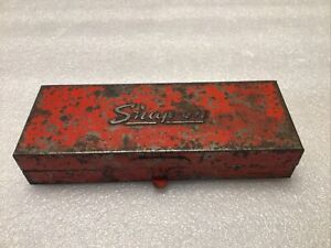 Vintage Snap On Complete 10 Pc 3 8 Dr Socket Set In A Snap On Kra223a Box
